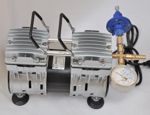 Regulated Twin Piston Oil-less Vacuum Pump 5 5CFM 3/4HP with  regulator/Gauge Hardware Kit muffler filter